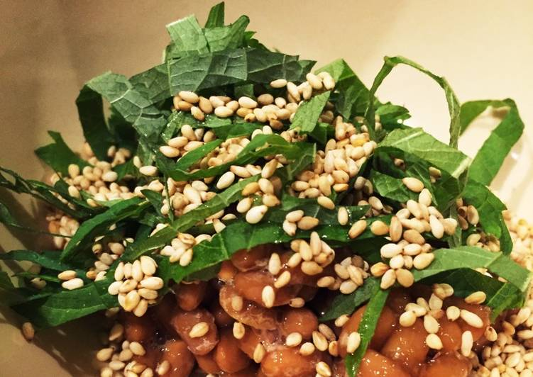 Simple Way to Make Super Quick Homemade Natto with sesame
