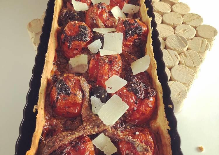 Recette: Tarte aux tomates cerises confites