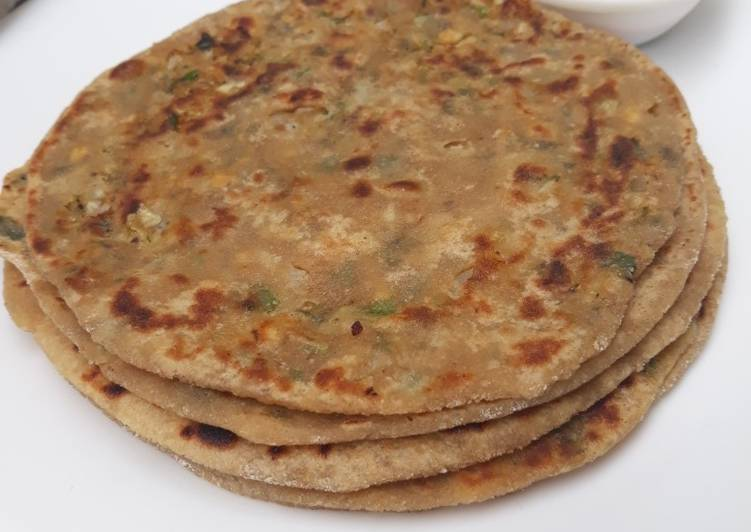 15 Minute Recipe of Homemade Paneer Sattu Veggie Paratha perfect for lunch boxes