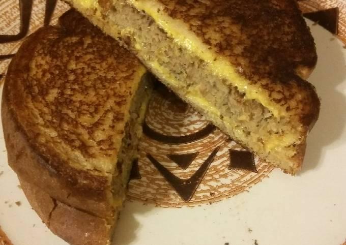 Tuna Patty Grilled Cheese