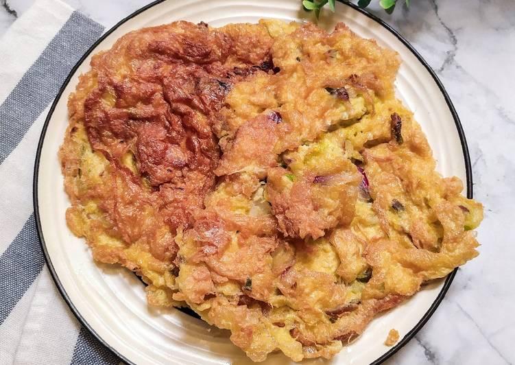 Telur Dadar Gurih & Crispy ala Tukang Pecel