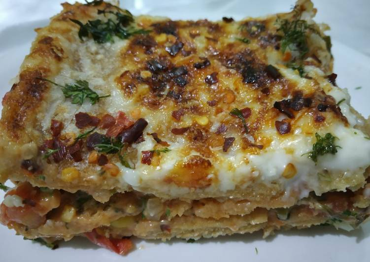 Easiest Way to Cook Appetizing Bread Lasagne