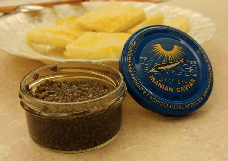 Recipe of Super Quick Homemade 魚子醬夾麵包 (Caviar on Toast)