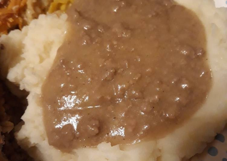 Hamburger Gravy Birthday Celebration version