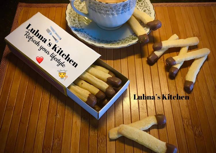 Simple Way to Make Speedy Eggless matchstick cookies