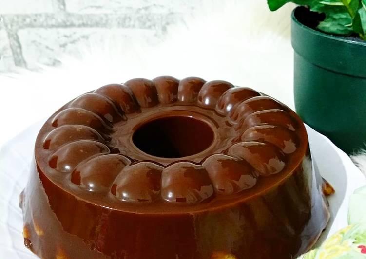 resep cara membuat Pudding crackers Coklat