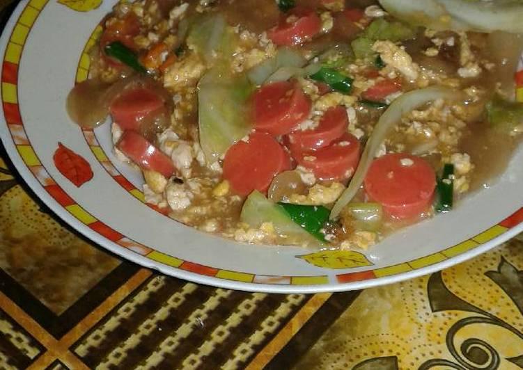Resep Seblak telor sosis Yang Populer Bikin Ngiler