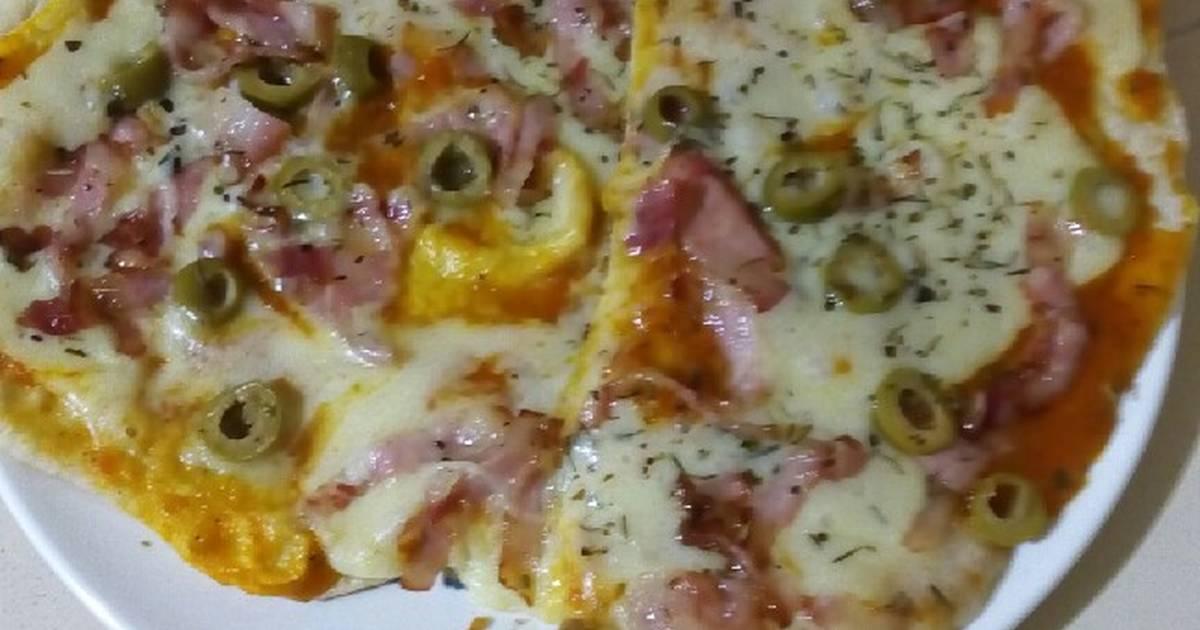 Pizza Casera Con Pan Pita Receta De Getsemany Delgado Cookpad