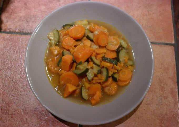 Tajine de patate douce aux petits légumes