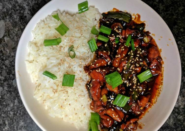 Korean Style Spicy Chicken
