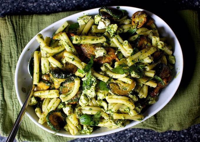 Ottolenghi's Pasta and Fried Courgette Salad