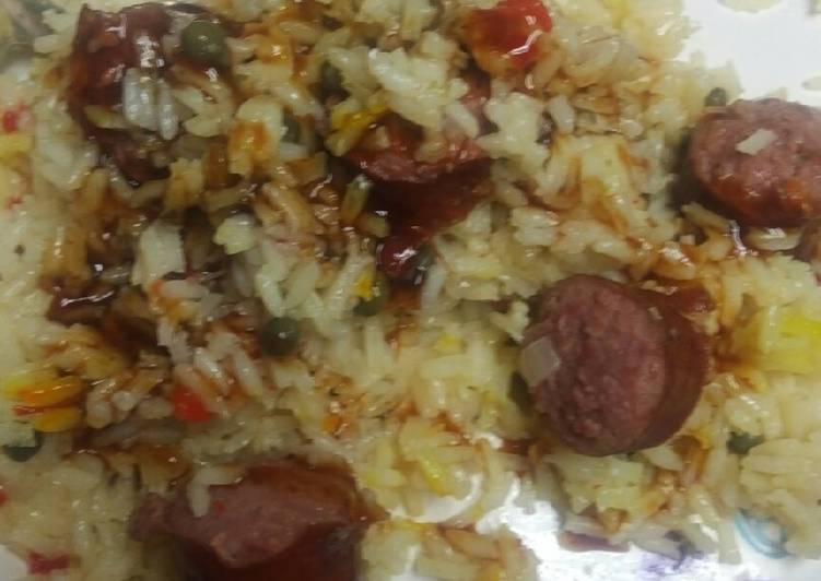 Recipe: Appetizing Barbecue Sausages and Rice