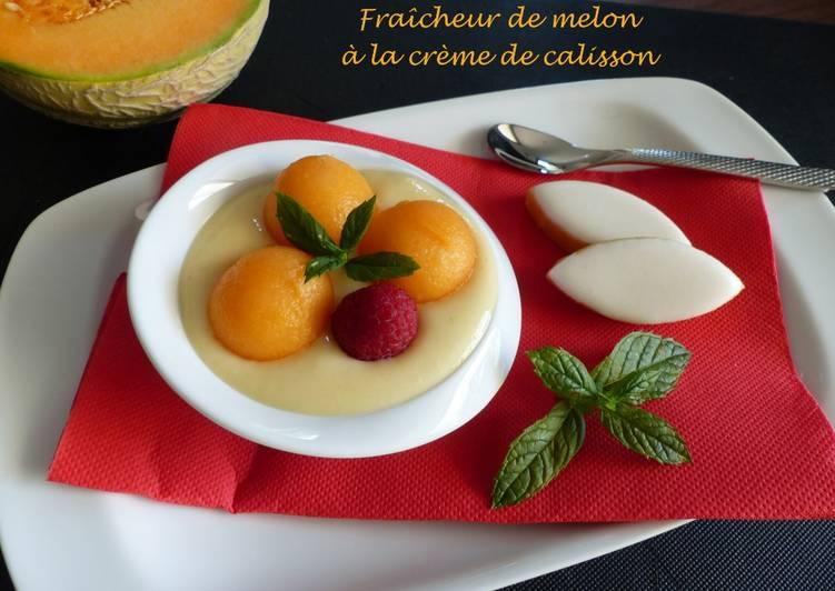 Fraîcheur de melon à la crème de calisson