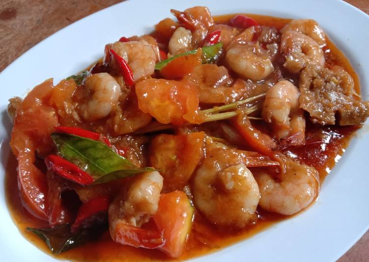 107. Udang Asam Manis - cookandrecipe.com