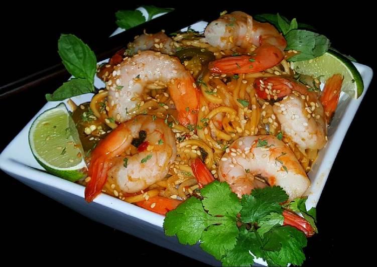 Mike's Spicy Thai Sobe Shrimp Noodles