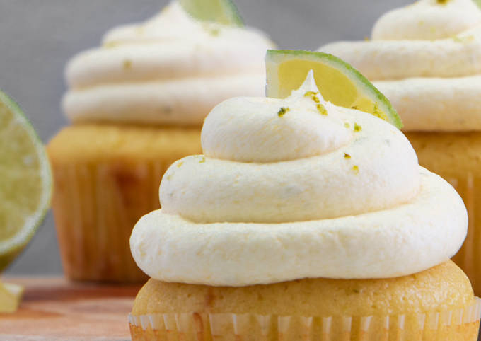 Margarita Cupcakes with Tequila Lime Cream Cheese Frosting