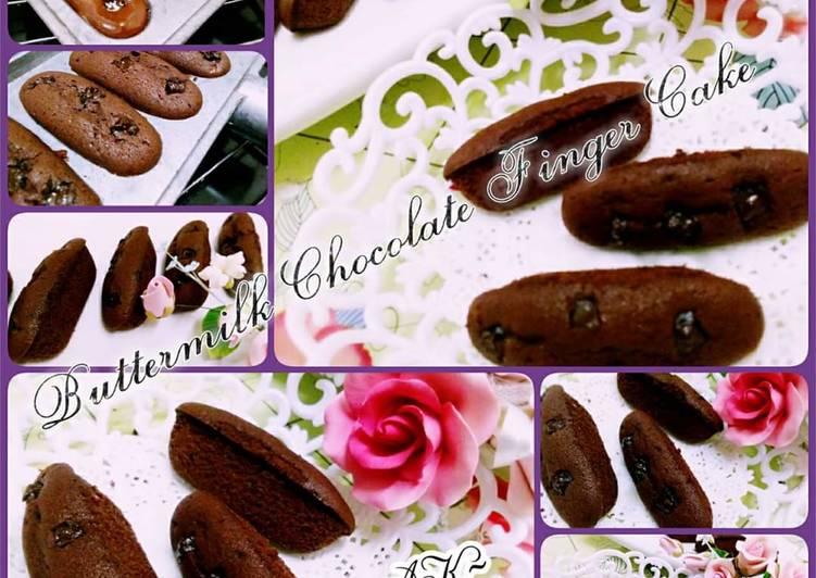 Buttermilk chocolate finger cake