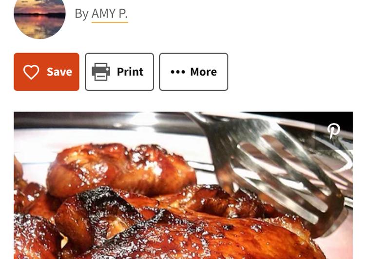 Simple Way to Make Any-night-of-the-week Terriyaki chicken wings