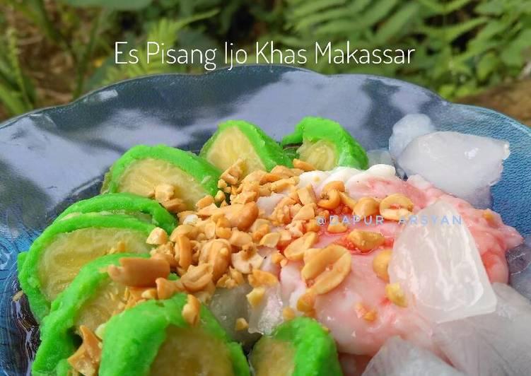 Es Pisang Ijo Khas Makassar