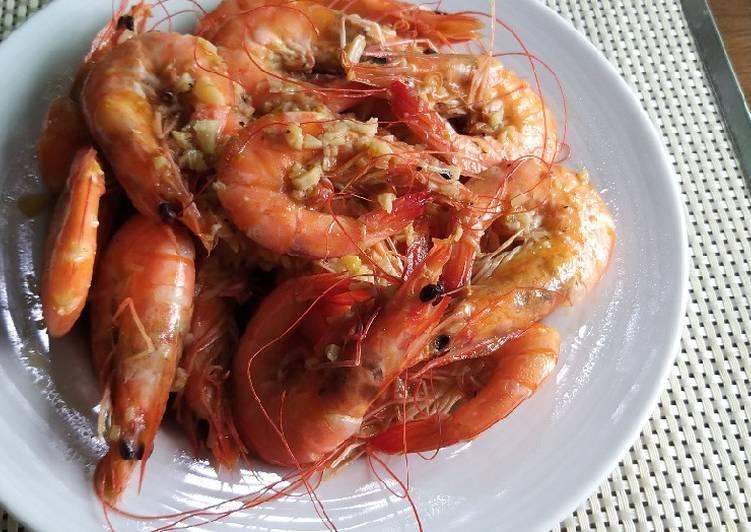 Steps to Prepare Homemade Garlic butter shrimp
