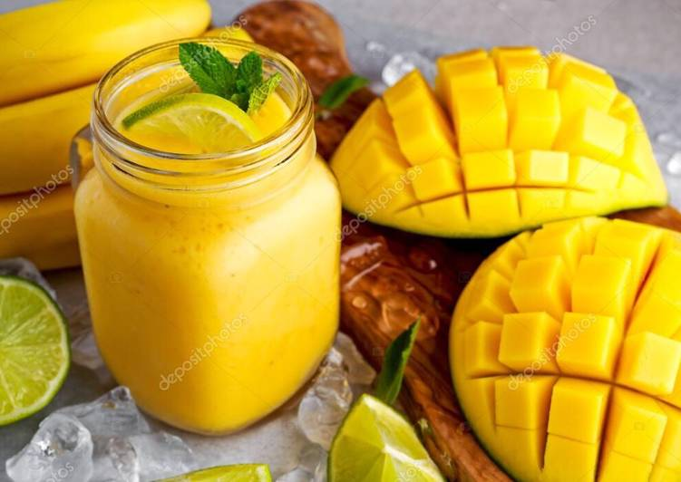 Larissa's Fresh Tumeric And Mango Lassi (Smoothie)
