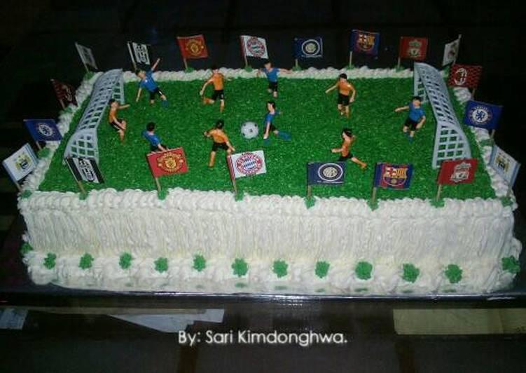 Resep Cake Hias Sepak Bola Oleh Sari Utami Kimdonghwa Cookpad