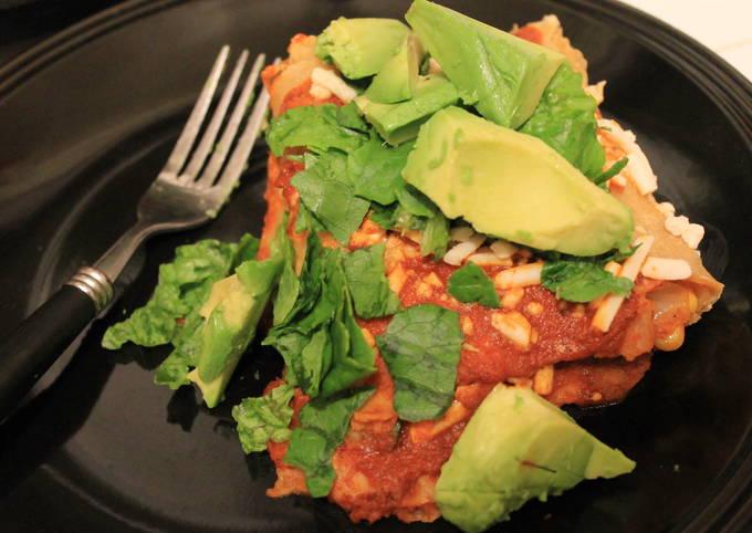 Recipe: Yummy Dinner Recipe: Veggie Enchiladas