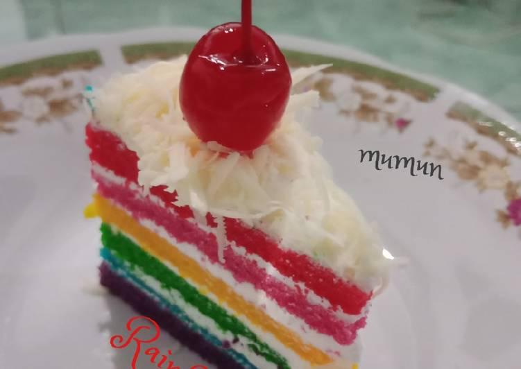 Rainbow Cake Ny. Liem Super Lembut