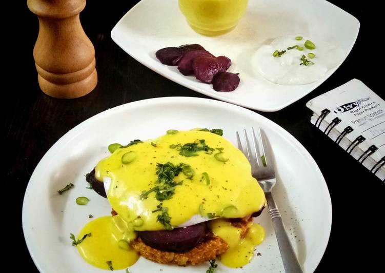 Foods That Make You Happy Cauliflower Hash brown Benedict