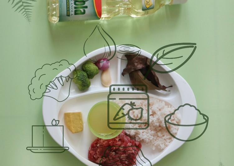 MPASI 6 Bulan : Daging Giling Brokoli Tahu
