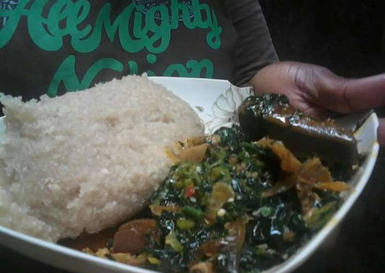 Easy Breezy Ugwu and Okra soup paired with Eba, Discover The Truth On Superfoods