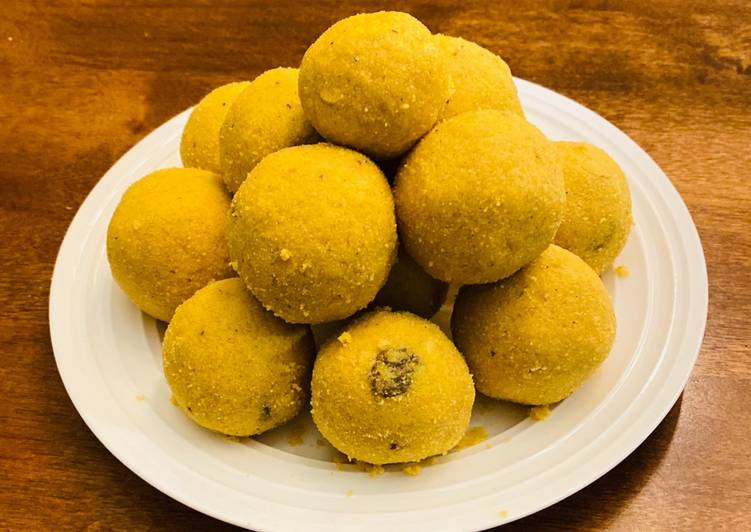 Steps to Prepare Super Quick Homemade Besan ladoo