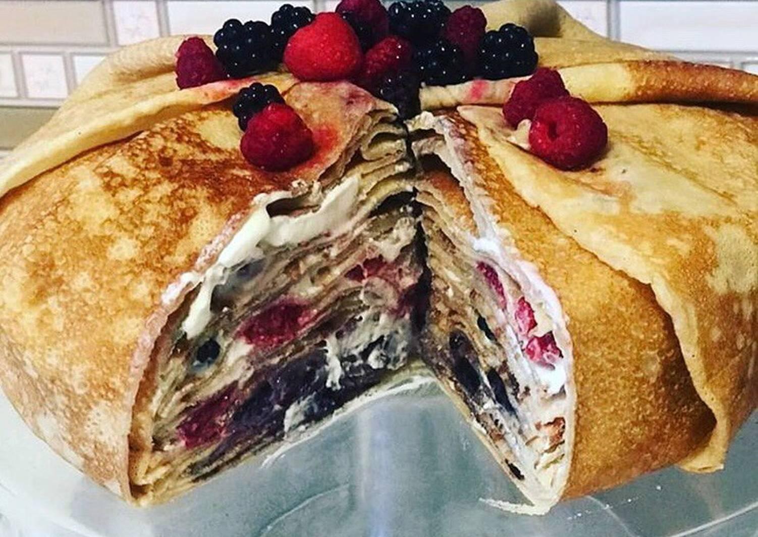 Блинный торт лучший рецепт с фото