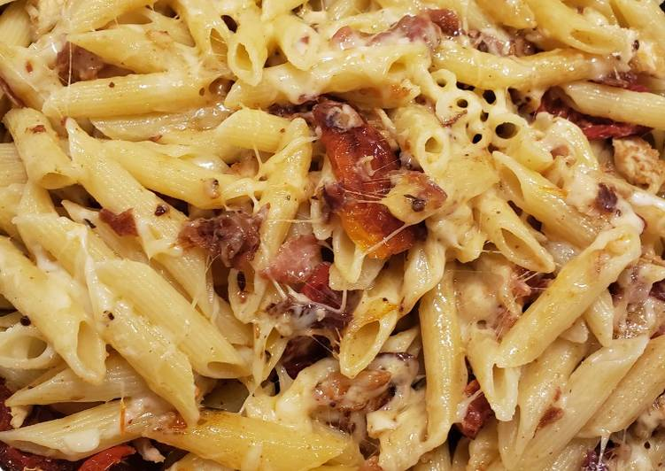 Recipe: Delicious Chicken Bacon Sundried Tomato Pasta