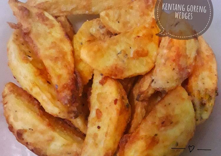 Kentang goreng wedges