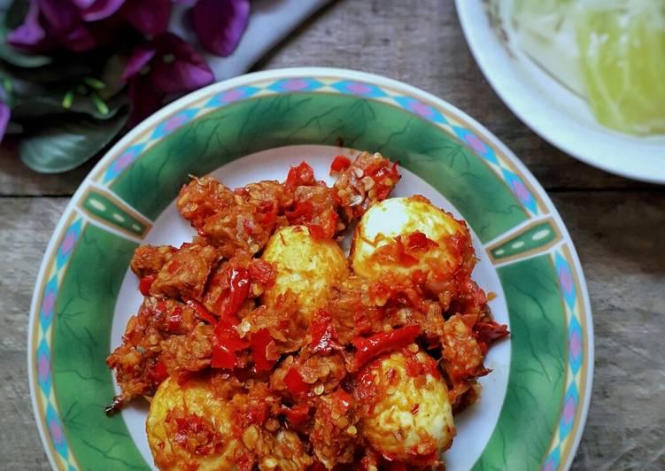 Sambal Telur Tempe Tomat Bawang