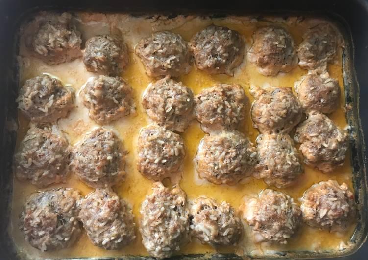 Ёжики (тефтельки) в духовке основное фото рецепта