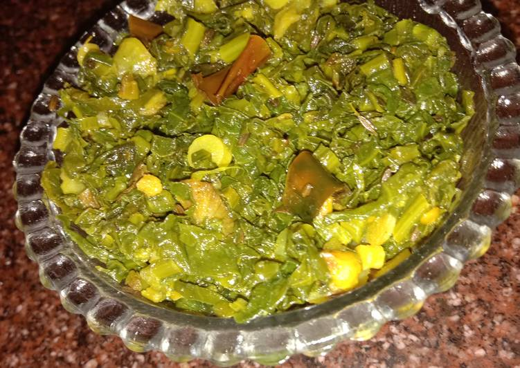 Easiest Way to Make Perfect Tendor radish green leaves bhaji