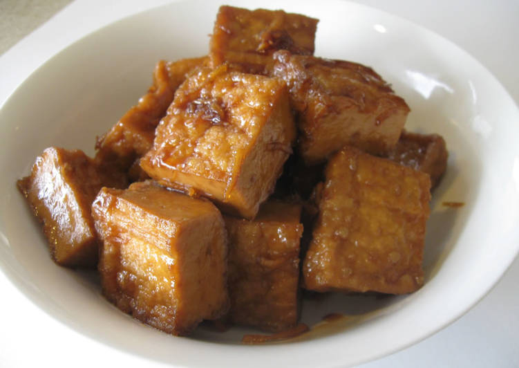 Easiest Way to Make Perfect Atsu-age (Fried Tofu) Simmered in Sweet Soy Broth