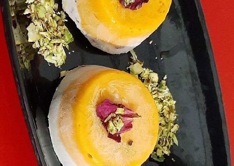 Vegan Mango Coconut Rose Petals Kulfi