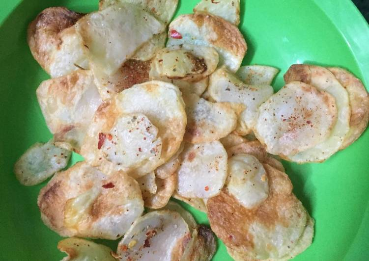 Step-by-Step Guide to Prepare Favorite Oil free peri peri masala chips