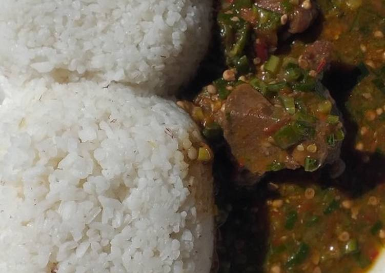 Foods That Can Make Your Mood Better White rice and okra soup