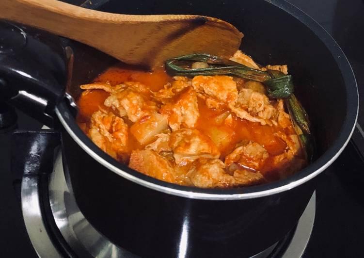 Vegetarian Sambal Ayam shortcut - velavinkabakery.com