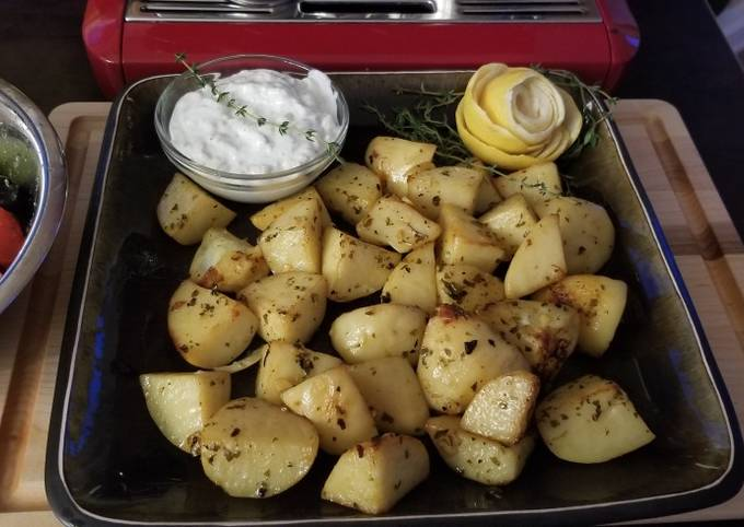 Lemon Oregano Roast Potatoes
