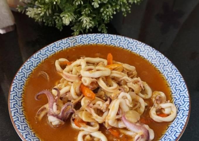 Cumi Saos Padang ala Seafood Kaki Lima - projectfootsteps.org