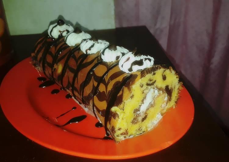 Bolu Gulung batik coklat pake OTANG (oven tangkring)