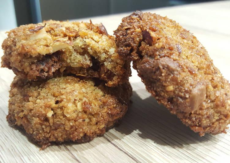 Cookies noisettes et pralinoise zéro déchet (au pain dur)