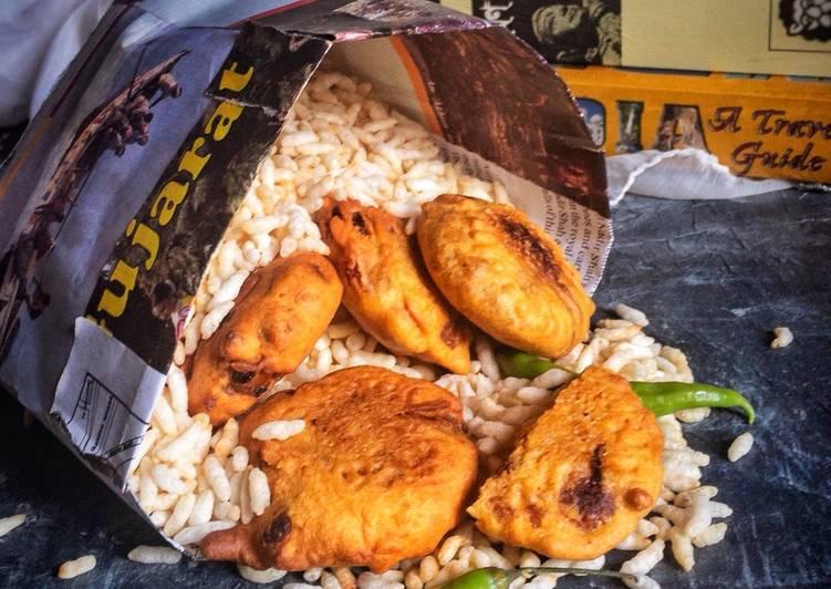 Aloo chop Muri,Kolkata street food