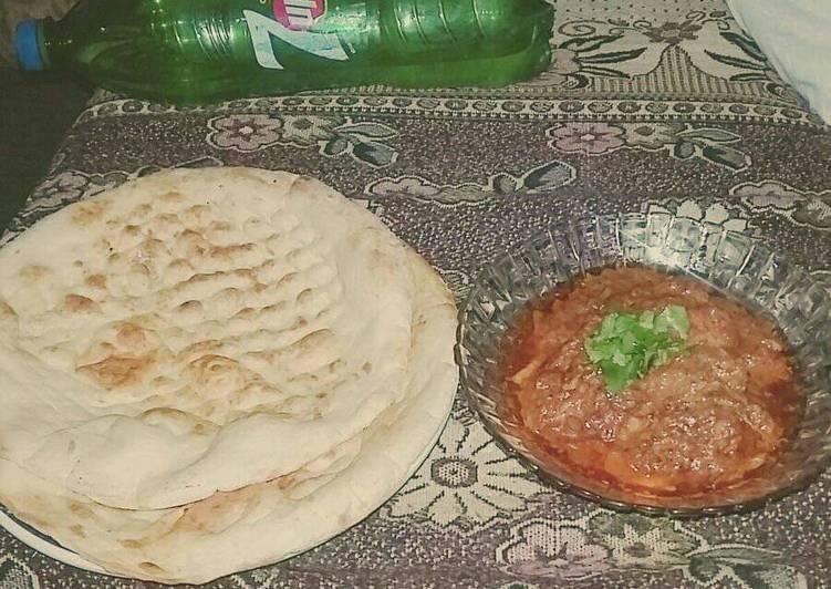 Steps to Make Homemade Chicken creamy karahi with naan