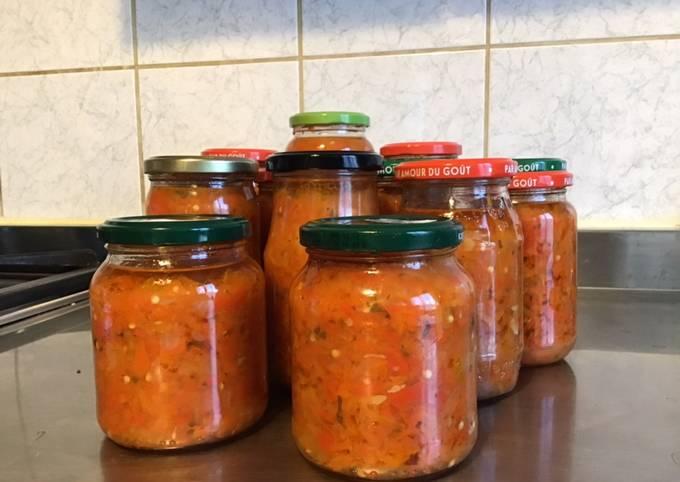 Sauces au piments antillais carottes oignons et épices
